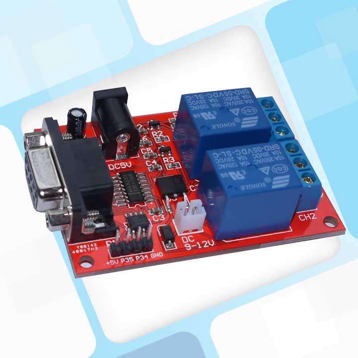 串口控制2路继电器,延时继电器成品板